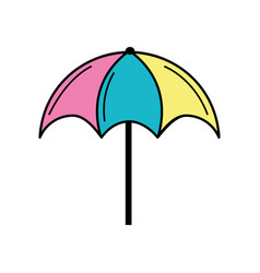 nice umbrella open to protect of sun vector image