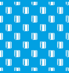 notepad pencil pattern seamless blue vector image