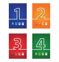 Number background set vector