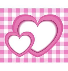 paper pink hearts vector image