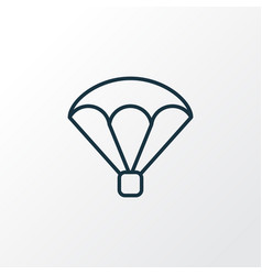 parachute icon line symbol premium quality vector image