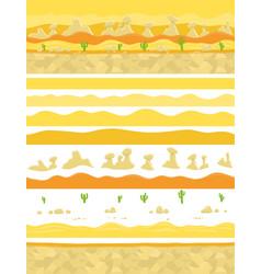 Parallax ready layers desert sand landscape vector