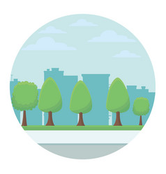 park with trees vector image