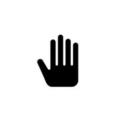 plam hand icon vector image