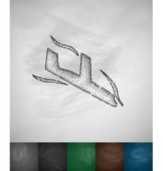 plane crash icon vector image