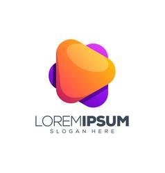 Play logo design vector