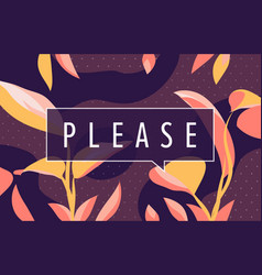 please in design banner template for web vector image