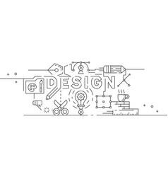 printgraphic design thin line design vector image