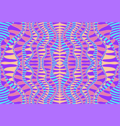 psychedelic tribal colorful surreal doodle pattern vector image