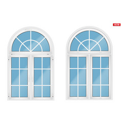 Pvc window with arch vector
