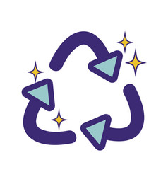 Recycle symbol to ecology planet care vector
