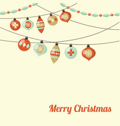 retro christmas greeting card inivtation with vector image