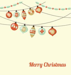retro christmas greeting card invitation vector image