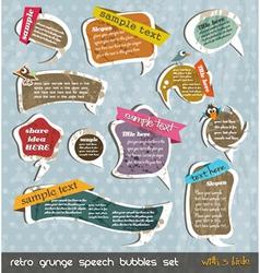 Retro grunge speech bubbles vector