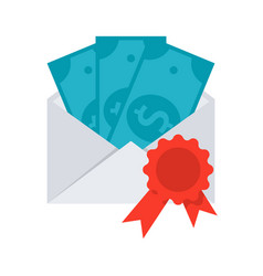 Scientific prize or grant icon vector
