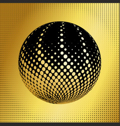 Set abstract halftone 3d spheres 39 vector