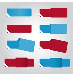 Set of eight color banners for web vector image