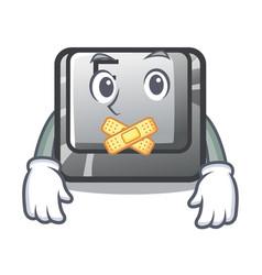 Silent button f on a keyboard cartoon vector