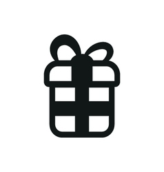 simple black icon of Gift on white background vector image