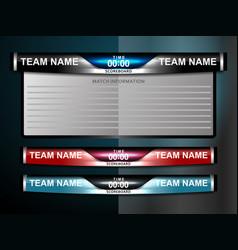 Soccer scoreboard design vector