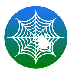 spider on web white icon in vector image