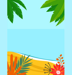 summer landscape background with copy space vector image