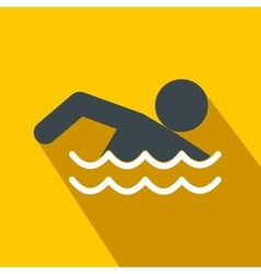 Swimmer flat icon vector image