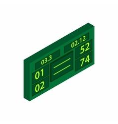 Tennis scoreboard icon isometric 3d style vector image