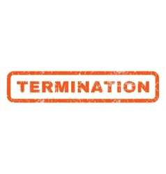 Termination Rubber Stamp vector