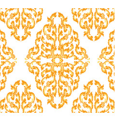 Thai style art pattern on a white vector