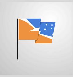 Tierra del fuego province argentina waving flag vector