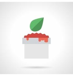 Tomato sauce flat color icon vector image