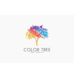Tree logo Creative logo Nature logo Color tree vector