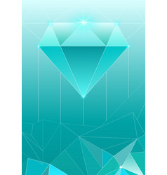 Trendy cosmic crystal vector