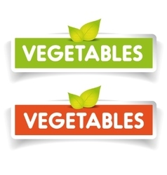 Vegetables label set vector image