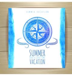 Watercolor summer typography design vector image