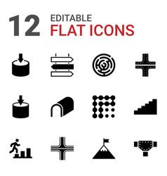 Way icons vector