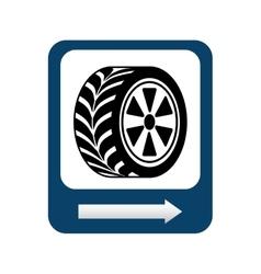 wheel repair signal isolated icon design vector image