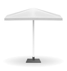 White parasol or promo umbrella isolated vector