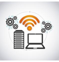 Wifi connection design vector