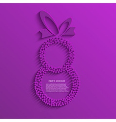 womens day background Eps10 vector image