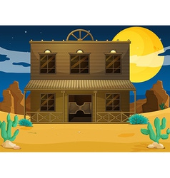A big building at the desert vector image