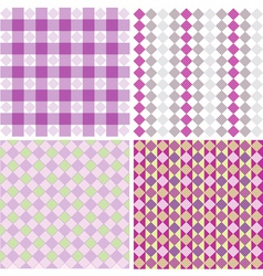 color patterns vector image vector image