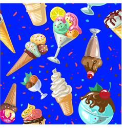 icecream seamless pattern design vector image vector image