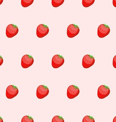 Red Strawberry seamless background Fresh ripe vector image vector image