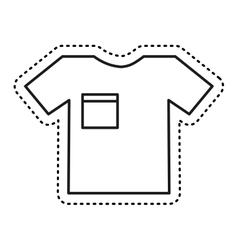 t-shirt clothes isolated icon vector image vector image
