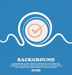Check mark sign icon Checkbox button Blue and vector image