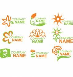 floral logos vector image