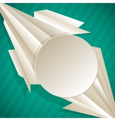 Geometric background with triangles and frame vector image