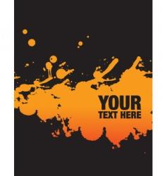 orange splodge vector image